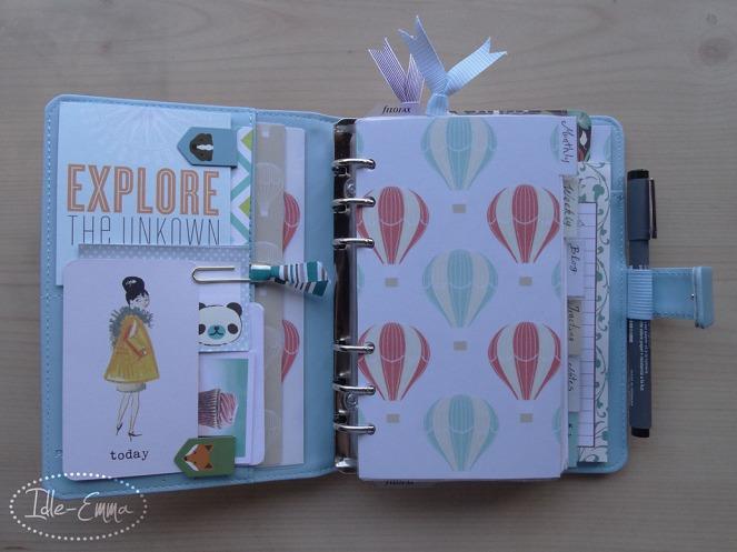 Photo - Geo, Geometric Personal Filofox Planner Setup (2) - Inside Cover