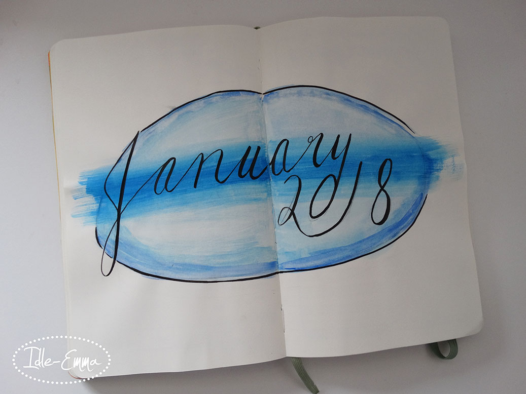 January 2018 in my Moleskine Planner